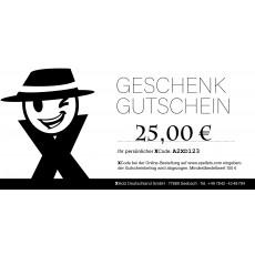 Geschenk-Gutschein 25,-€